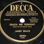 Janet Brace – Teach Me Tonight