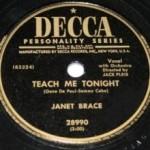 Janet Brace – Teach Me Tonight